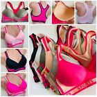1 - 3 Bra - 6 SPORT BRAS Active Wear YOGA RACER BACK Molded CUP 8913 LOT 32B-42D