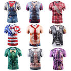 Cool Maschi 3D Cowboy Stampa T-Shirts Tops Manica corta estiva Casuale Tee Tops