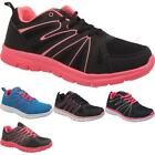 Womens Sports Running Fitness Jogging Ladies Lace Up Lightweight Trainers Shoes