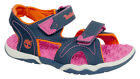 Timberland Adventure 2 Strap Hook And Loop Fastening Navy Pink Sandals