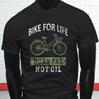 BIKE BURN FAT NOT OIL BICYCLE LIFE WORKOUT FUNNY Mens Black T-Shirt