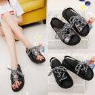 Womens Ladies 2017 Summer Stylish Lace Up Flat Slingbacks Sandals Casual Shoes