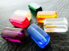 6x13mm 30/60pcs CLEAR ASSORTED COLORS ACRYLIC TUBE BEADS CM1964