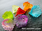 12x12mm 50/100/200pcs CLEAR ASSORTED COLORS ACRYLIC FLOWER BEADS CM1532