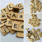 100PC Wooden Alphabet Black Capital/Lowercase Letters For Scrabble Children Toy