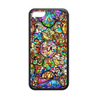 Disney Princess Stained Glass Back Case Cover for iPhone 8 8+ 7 Plus 6 6+ 5S 5C
