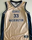 GEORGE WASHINGTON COLONIALS YOUTH BASKETBALL JERSEY NCAA #33 NEW! YOUTH S,M,L,XL