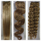 "New 15""-36"" Remy Human Hair Weft Extensions Straight Deep Wavy #16 Darker Blonde"