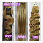 "AAA+ 15""-36"" Remy Human Hair Weft Extensions Straight Deep Wavy Mixd #27/613"