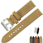 Italy Thick Genuine Leather Watch Band Strap Steel Buckle 20 22 24 26mm for PAN