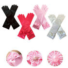 Внешний вид - Fashion Satin Bowknot Long Gloves Princess Hands Cover for Toddler Kids Girls
