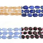 Faceted gemstone nugget beads strand 16""
