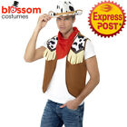 AC110 Mens Instant Wild West Western Cowboy Costume Kit Texas Rodeo Outift Hat