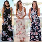 Sexy Women Beach Maxi Dress BOHO Long Evening Party Cocktail Prom Floral Summer