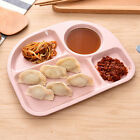 New Kids Plate Children Divided Dinner Snack Dish Natural Baby Food Tableware