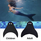 Kids Adults Mermaid Tails Swimmable Monofin Mono Fin Flippers Swimming Diving US
