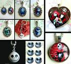 NIGHTMARE BEFORE CHRISTMAS PENDANT NECKLACE KEYRING JACK SKELLINGTON SALLY BELL