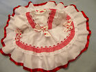 """DREAM 0-3 MONTHS TRADITIONAL WHITE RED HEARTS NETTED DRESS 20-24""""  REBORN DOLLS"""