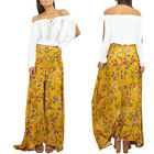 Summer Simple Style Elastic Retro Print Sexy Open Long Skirt Sexy Women's Dress