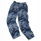 Carolina Panthers ZUBAZ Black Blue White Vintage Zebra Style Pants
