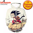 K374 Dragon Ball Z Hoodie Goku Gohan Anime Sweatshirt Top Jacket Cosplay Costume