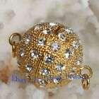 A Grade Crystal Gold Plated Jewelry Clasp 16mm Ball Findings