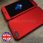 Ultra thin 0.7 hard 360 cover for iphone 7 case armour Tmepered glass shockproof