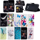 Printed Leather Wallet Flip Case Cover For Samsung Galaxy A3 A5 J3 J5 J7 2017