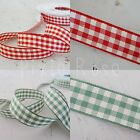 15mm Berisfords Natural Gingham Ribbon - 2 metres - choice of colours
