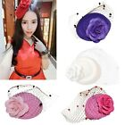 Vintage Women Pillbox Fascinator Hat Flower Hair Clip Accessory Cocktail Party