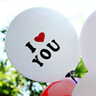 "12"" Cute Romantic Heart Love Balloons For Wedding Birthday Party Holiday Decor"