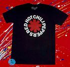 New Red Hot Chili Peppers Classic Logo Black Vintage Concert Mens T-Shirt  image