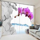 3D Flowers Stones Blockout Photo Curtain Printing Curtains Drapes Fabric Window