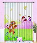3D Girl Tiger 6 Blockout Photo Curtain Printing Curtains Drapes Fabric Window AU