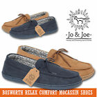 MENS MOCCASINS SLIPPERS LOAFERS LACE UP GENTS BOSWORTH SHOES SIZE HARD SOLE NEW