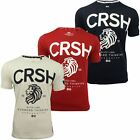 Mens Crew Neck T-Shirt by Crosshatch 'Aichi' Peached Cotton Soft Touch Print