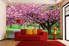 3D flower View Pink 1758 Paper Wall Print Decal Wall Wall Murals AJ WALLPAPER GB