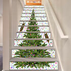 3D Christmas tree Stair Risers Decoration Photo Mural Vinyl Decal Wallpaper AU