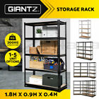 x1 x2 x3 x5 New Giantz Steel Warehouse Storage Rack Garage Shelving Racking 2CLR