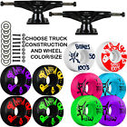 black skateboard trucks - Tensor Black Trucks Bones SKATEBOARD 100's Wheels PACKAGE Abec 9 Bearings