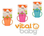 Vital Baby Cup Free Flow First Drinking Trainer Soft Flip Spout 180ml 4m+ No Bpa