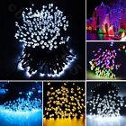 100 200 LED Warm White Solar Power 73FT String Fairy Light Outdoor For Garden