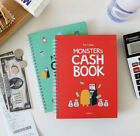 Monster's Cash Book 1 Year Money Record Planner Diary Account Illust Organizer