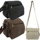 New Men Ladies Small Metro Canvas Utility Bag 3 Colours Travel Holiday Festival