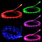 LED Smile Luminescent Visible Current Flow Smart Charger Sync Cable for iPhone Q