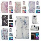 For Samsung Galaxy J3 2016 J310 Marble Pattern Glossy PU Synthetic Leather Cover
