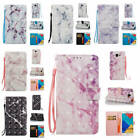 For Samsung Galaxy A5 2016 A510 Marble Pattern Glossy PU Synthetic Leather Cover