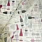 Printed Patterned Tissue Paper *Wine Not* Premium Quality *Drinks Bottle Tissue*