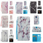 Fr LG Stylus 3 / K10 Pro Marble Pattern Glossy Synthetic Leather Card Case Cover