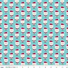 Santa Express 100% Cotton Flannel Father  Christmas Fabric by Riley Blake